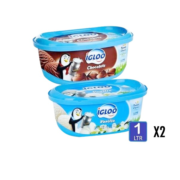 IGLOO ICECREAM ASSORTED 2X1LT