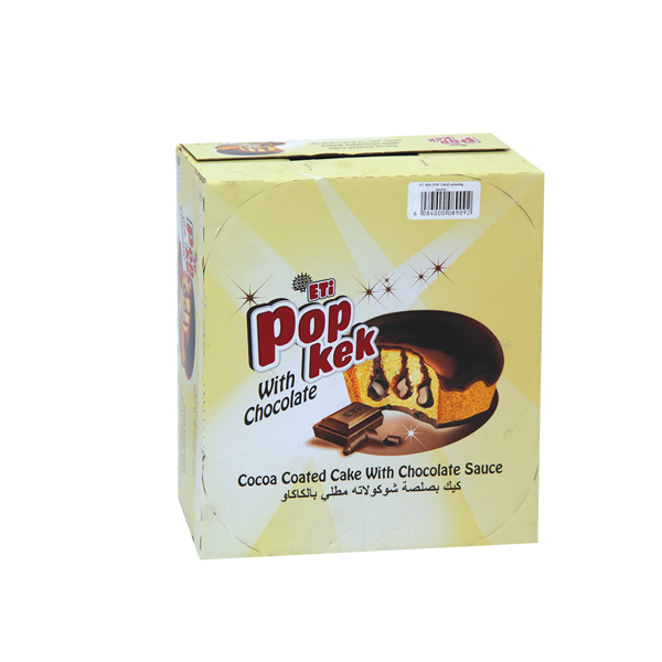 ETI POP KEK WITH CHOCOLATE 24 x45 GR