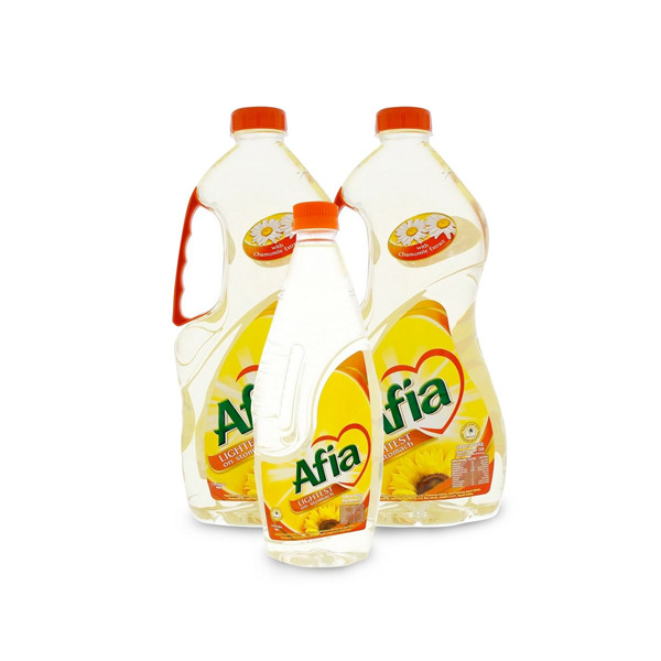 AFIA SUNFLOWER OIL 2X1.5 LTR+750 ML