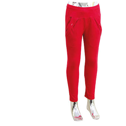 4-10 red cotton school girls pants