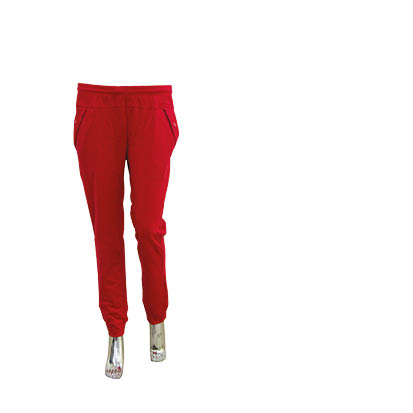 12-18 red cotton school girls pants