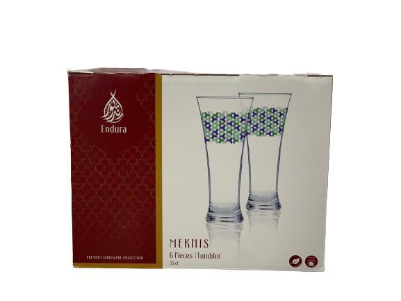 Endura Glass Juice Cup Set 6 PCS