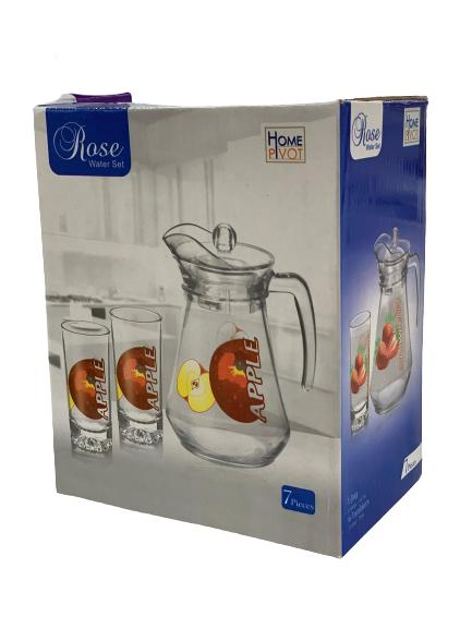 Glass Jug With Cup Set 7 PCS