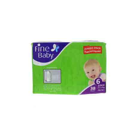 BABY DIAPERS COMFORTABLE SOFTNESS 6 JUNIOR 38 TABLETS