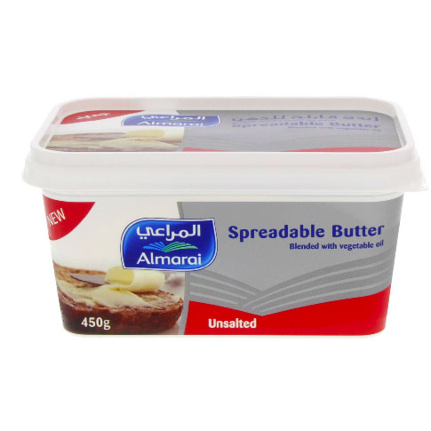SPREADABLE BUTTER UNSALTED 450GM