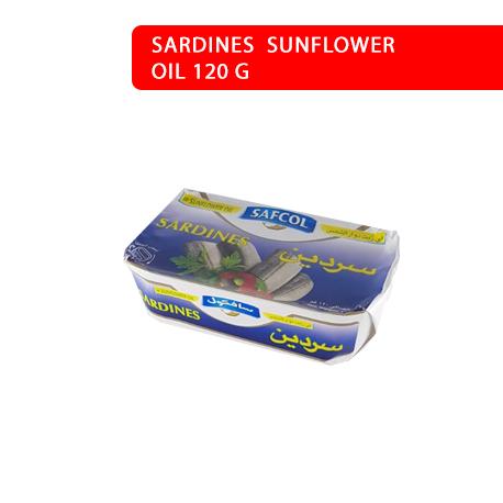 SARDINES  SUNFLOWER OIL 120 G