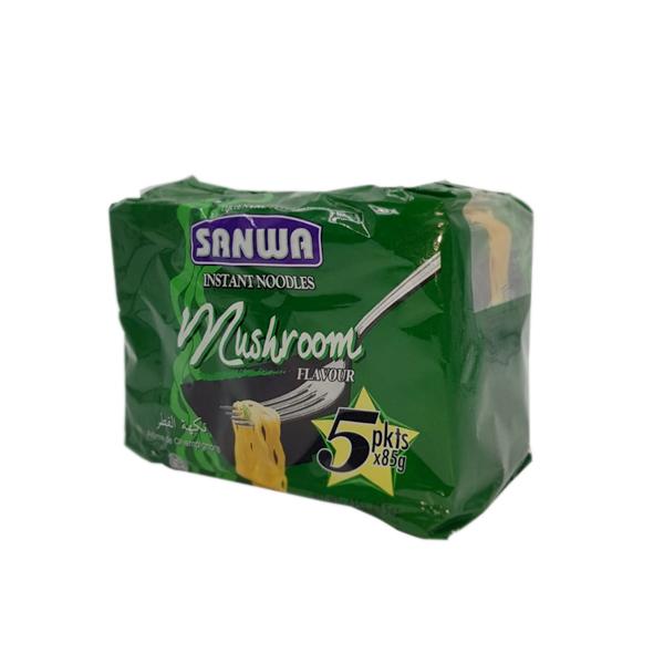 SANWA NOODLES  MUSHROOM FL 5 x 85GM
