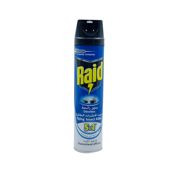 RAID ODORLESS FLYING INSECT KILLER 5 IN 1 400ML