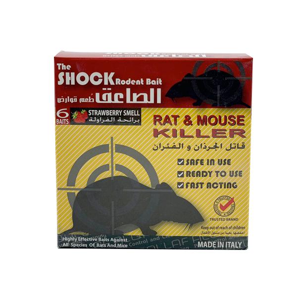 THE SHOCK RODENT BAIT RAT & MOUSE KILLER 6 BAITS