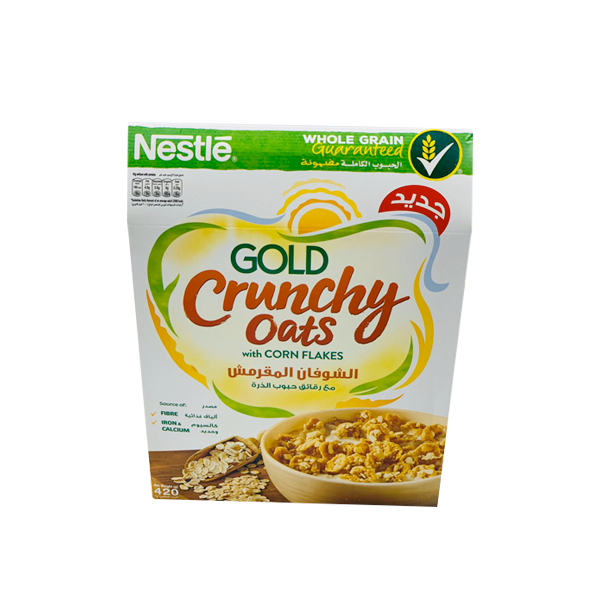 NESTLE CRUNCHY OATS WITH CORN FLAKES 420 GM