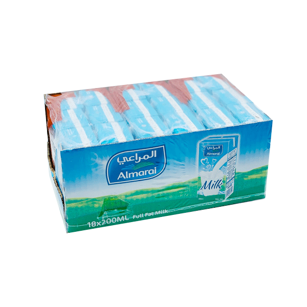 ALMARAI LONG LIFE FULL FAT MILK 18 x 200 ML
