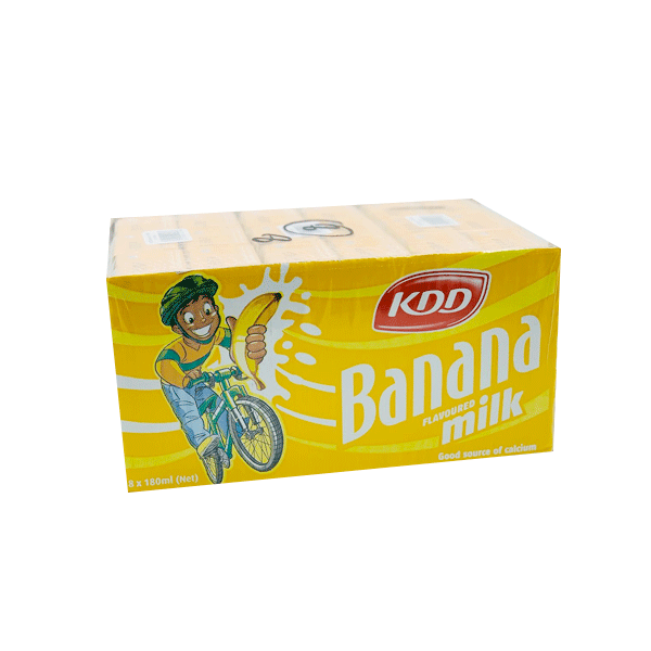 KDD MILK BANANA 18 x 180ML