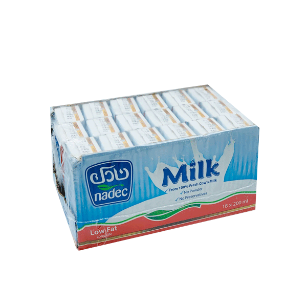 NADEC MILK LONG LIFE LOW FAT 18 x 200 ML