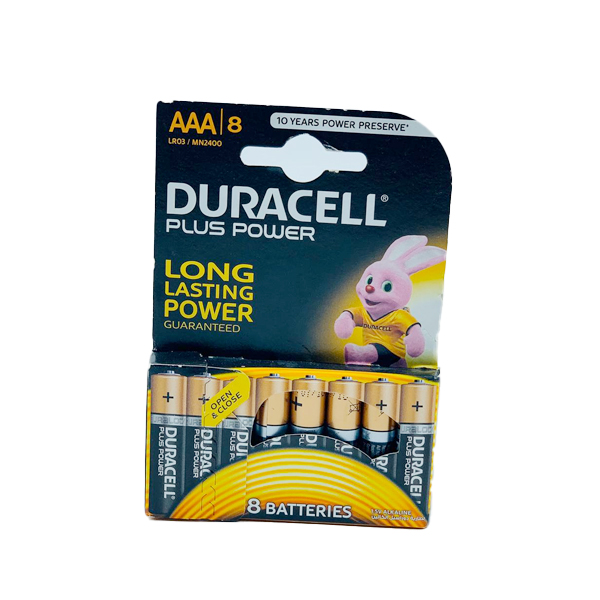 DURACELL PLUS POWER LONG LASTING 8PCS