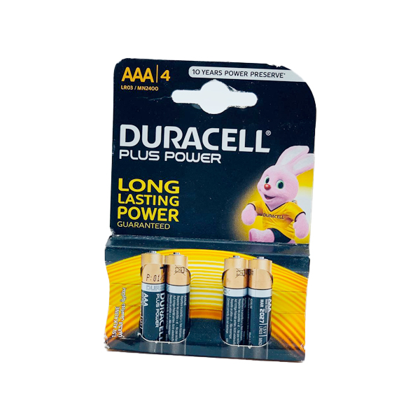DURACELL PLUS POWER LONG LASTING 4PCS