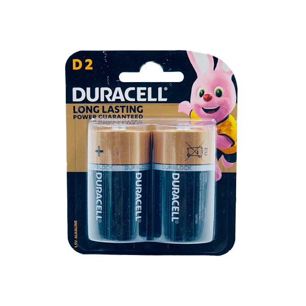 DURACELL BASIC D 2PCS ALKALINE BATTERY