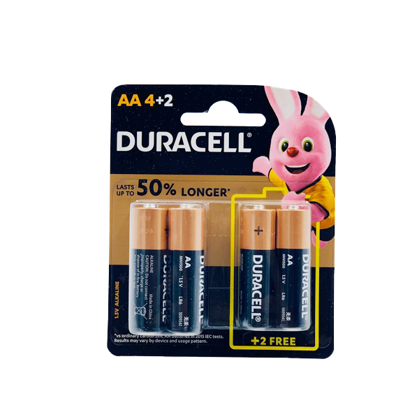 DURACELL BASIC AA 4+2PCS ALKALINE BATTERY