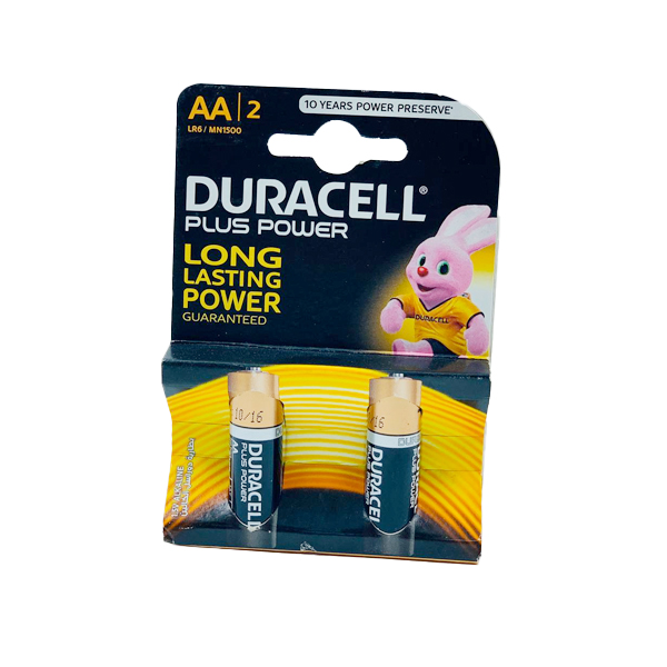 DURACELL PLUS POWER LONG LASTING 2PCS