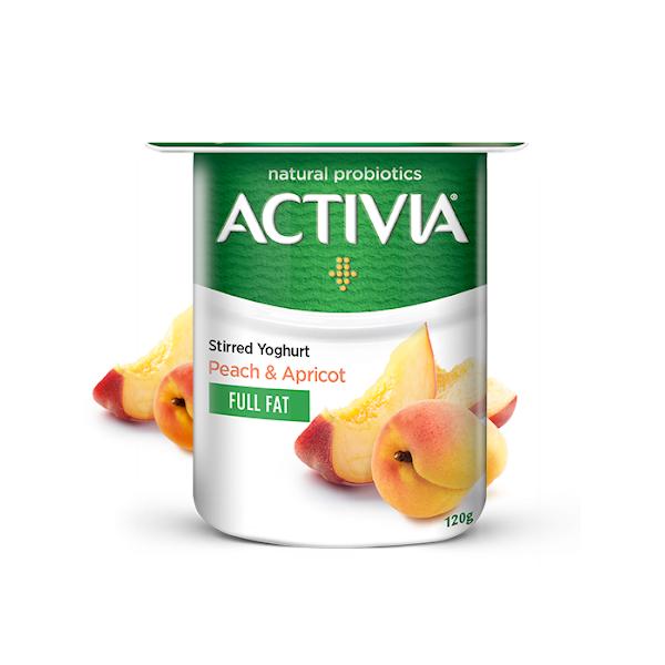 ACTIVIA STIRRED YOGHURT PEACH-APRICOT FULL FAT 120GM