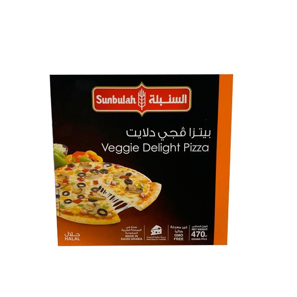 SUNBULAH VEGGI DELIGHT PIZZA 470GR