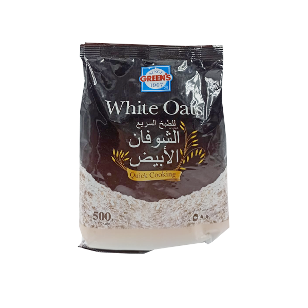 GREENS WHITE OATS POUCH 500 GR