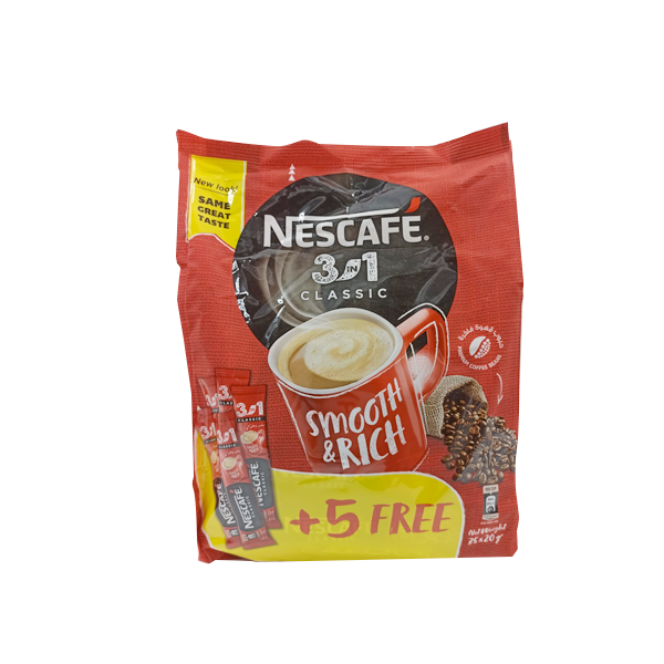 NESCAFE MYCUP 3IN1CLASSIC 30x20G+5 FREE