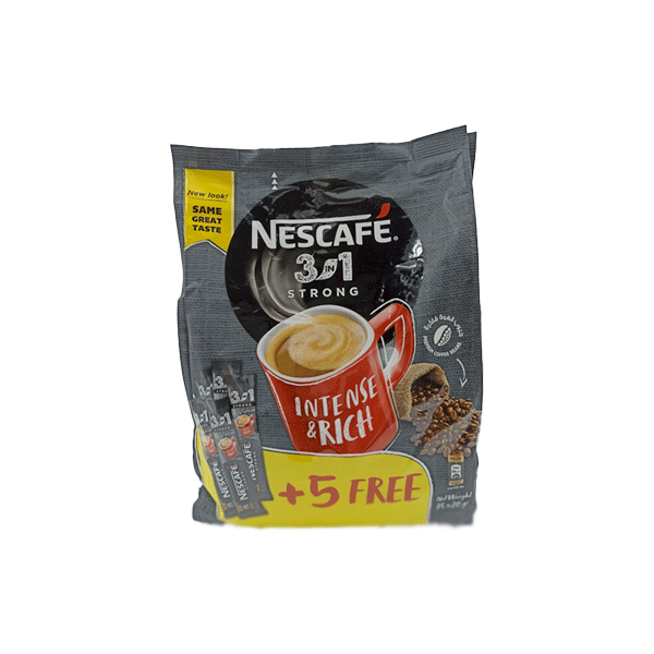 NESCAFE MYCUP 3IN1 INTENSO 30X20 GR+5 STICK FREE