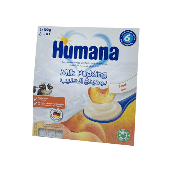 HUMANA MILK DESSERT PEACH 400GM