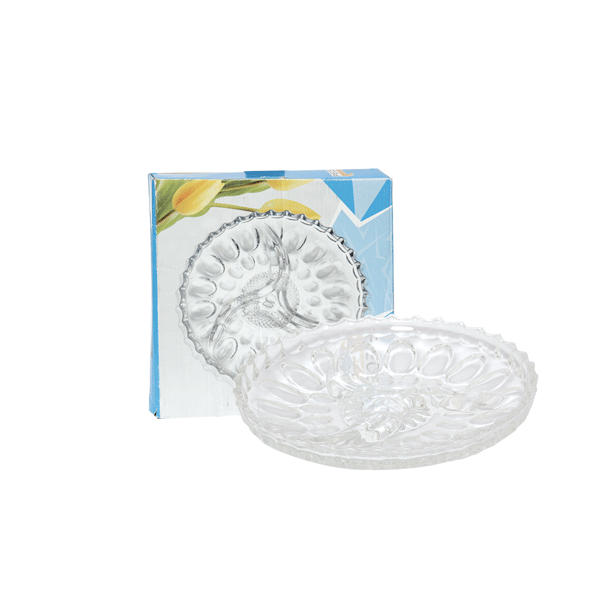Glass Round Divided Plate